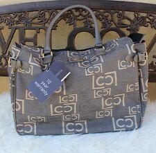 Liz Claiborne South Pacific Luggage Carry on Travel Tote Bag Black/Pewter XL NWT