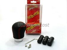 New Black Leather Red Stitch Sport Car Manual Gear Shift Knob Momo Style