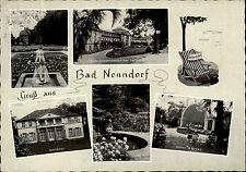 1960 Stempel Bad Nenndorf auf schöner s/w Mehrbildkarte ua. Sonnengarten Schloß