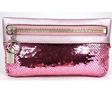 Coach Poppy Story Patch Pink Sequin Zip Top Clutch Bag Handbag Pouch 43289 EUC