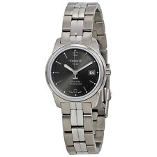 Tissot PR100 Black Dial Titanium Bracelet Ladies Watch T0493104406700