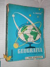 GEOMETRIA Vol 3 PAESI EXTRAEUROPEI Aldo Sestini Le Monnier 1963 libro scuola di
