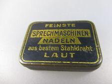 Antike Grammophon-Nadel-Box/Sprechmaschinen-Nadeln  mit Inhalt   (Stiege9)