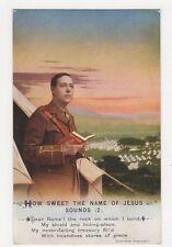 WW1, How Sweet The Sound of Jesus Sounds (2) Postcard, B128