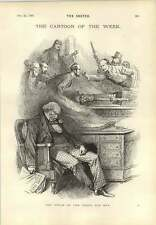 1893 Gladstone's Dream Cartoon Latest Scandal In Paris