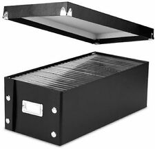 Snap-N-Store DVD Storage Boxes, 15.5 x 5.5 x 7.625 Inches, Black, 2 Boxes per