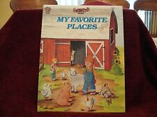 "Rare My Favorite Places by Rosie Reed by See Saw Childrens Books 1989 2""x10"" HC"