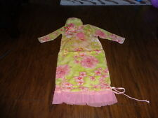 BOUTIQUE CACHCACH CACH CACH 0-3 FLORAL GOWN AND HAT SET