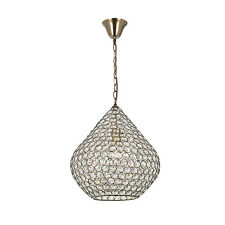 Morrocan Style Glass Beads Large Antique Brass Ceiling Light Pendant Fitting NEW