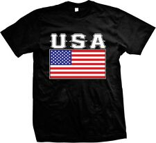 USA Flag United States of America Stars And Stripes Red White Blue Mens T-shirt
