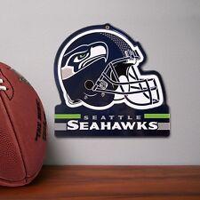 NFL Seattle Seahawks  Metal Helmet Sign  8 X 8  100% Die Cut Steel