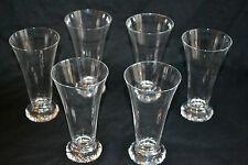 6 flutes à champagne cristal daum kim