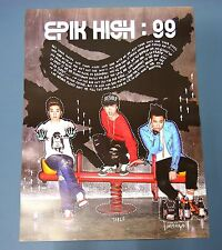 EPIK HIGH - 99 7th Album  OFFICIAL POSTER HARD TUBE CASE