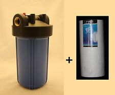 "Big Blue 10"" Whole House Water Filter System (1 inch Port) + PP Sediment Filter"