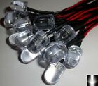 10 x 10mm Ultra Bright White Pre-Wired Constant 12v LEDs