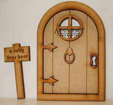1 x Fairy Castle 3D Fairy Door Kit With 'A Fairy Lives Here' Signpost