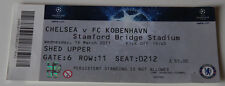 Ticket for collectors CL Chelsea FC - FC Copenhagen 2011 England Denmark