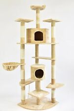 "80"" New Cat Tree Condo Furniture Scratcher Beige"
