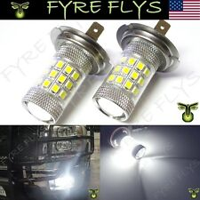 2 Xenon White 36-SMD H7 LED Bulbs Projector Lens Design Fog Lights DRL HID #L9