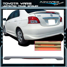 06-13 Toyota Yaris Sedan Unpainted OE Trunk Spoiler LED 3rd Brake Light