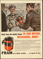 1946 Vintage ad for FRAM` Oil Filters,Art, Gas Attendents (061514)