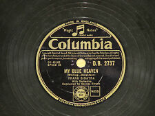 78rpm Schellack Frank Sinatra My Blue Heaven / Goodnight Irene Columbia D.B.2737