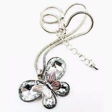 Moda fascino gioielli ciondolo cristallo catena a trama grossa con pettorina collana