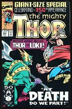 The Mighty Thor #432 Brother Against Brother At Death Do Us Part vs Loki *C*