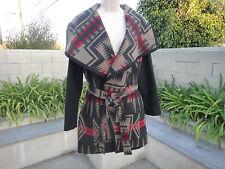 PENDLETON Harding Jacquard Wool Blend Wrap Coat, Shawl Collar/Belt, Women's Xsml