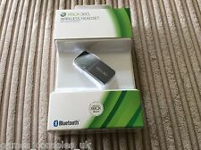 OFFICIAL XBOX 360 BLACK WIRELESS BLUETOOTH HEADSET BRAND NEW CORDLESS MICROSOFT