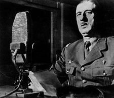 6x4 Gloss Photo ww4ED2 World War 2 Pictures Appel De Gaulle