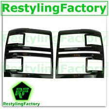 14-15 Chevy Silverado 1500 Extended+Crew Cab Gloss Black Headlight Trim Cover