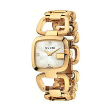 New Gucci G-Gucci White Mother of Pearl Diamond Dial Women's Watch YA125513