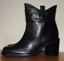 John Lewis Shanghai Leather Block Heels black Ankle Boots Size UK 7 RRP £110