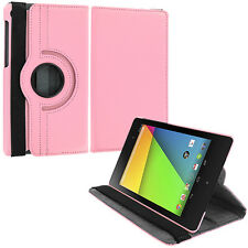 For Asus Google Nexus 7 2nd Gen 2 II 360 Rotating Pouch Case Cover Pink