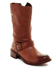$240.00 NEW Timberland Whittemore Women Brown Leather Mid Calf Boots Size 10