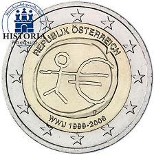 Autriche 2 euro pièce commémorative 2009 bfr.10 ans uem/EMU union économique