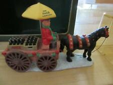COCA-COLA TOWN SQUARE COLLECTION CHRISTMAS HORSE DRAWN WAGON BOTTLES OF COKE BOX