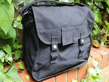 Army Shoulder Haversack Canvas Retro Black Bag 12.9L Camping Overnight Festival