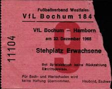 Ticket Regionalliga West 68/69 VfL Bochum - Hamborn 07, 22.12.1968