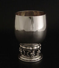 VINTAGE GEORG JENSEN 296B STERLING SILVER WINE GOBLET CUP GRAPE SUPERB CONDITION
