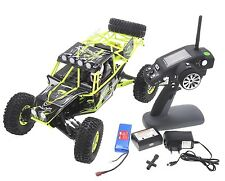 1:10 RC Rock Crawler Truck 4WD Rally Car 2.4GHz LCD Remote Control RTR Yellow