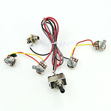 Wiring Harness 2V/2T 3 Way Toggle Switch 500K Pots For Dual Humbucker LP Guitar