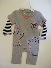 CHILD BABY 3 MTS TODDLERS GRAY GHOST MY FIRST BOO HALLOWEEN PUMPKIN COSTUME