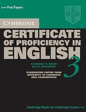 Cambridge Certificate of Proficiency in English 3 Student's Book with Answers: E