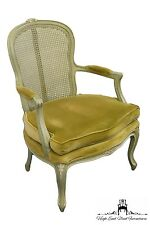 CENTURY FURNITURE Louis XV French Style Cane Back Accent Arm Chair