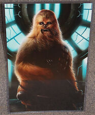 Star Wars Chewbacca Glossy Print 11 x 17 In Hard Plastic Sleeve