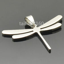 Hot Fashion Silver 1PCS Stainless Steel Cool Dragonfly Dog Tag Pendant PC23