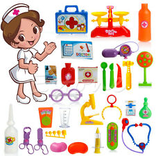 30pcs Baby Kids Doctor Medical Carry Play Set Case Education Role Play Toy Kit