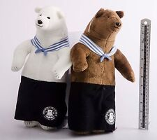 06 Pair of Shirokuma Cafe Living Life Bear Plush Doll Anime Manga Banpresto JP